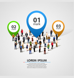 People crowd with option numbers vector