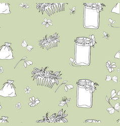 Print from a cosmetic bagscented candlecomb vector