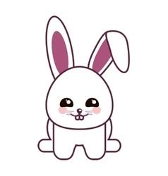 rabbit kawaii cartoon design vector image