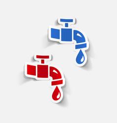 Realistic design element water tap vector