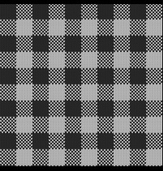 rectangle seamless knitted pattern in gray color vector image