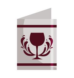restaurant menu wine cup beverage vector image