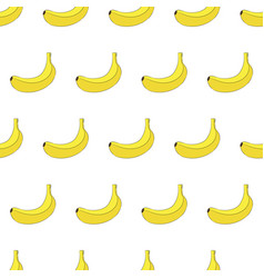 seamless pattern from banana isolated on white vector image vector image