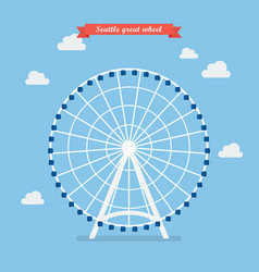 Seattle great wheel vector