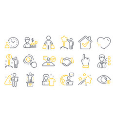 Set people icons such as business growth vector