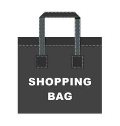 shopping bag big vector image