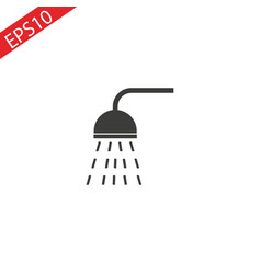 shower icon in trendy flat style isolated on vector image