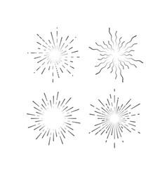 starburst or sunburst collection vector image