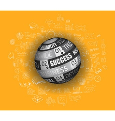 Success in Business Concept with Doodle design vector image