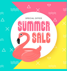 summer sale banner background design with vector image