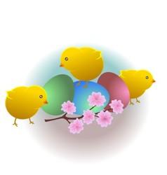 Three chicken vector image