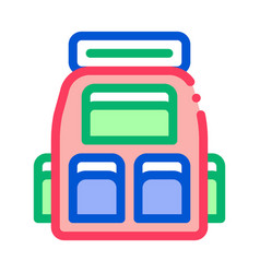 travel camping backpack icon outline vector image