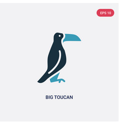 two color big toucan icon from animals concept vector image