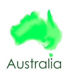 watercolor map australia on a white vector image
