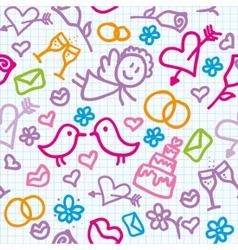 Wedding pattern vector
