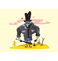 Wild West Sheriff Cartoon Character vector