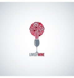 wine glass design concept background vector image