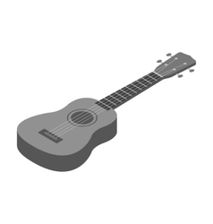 Acoustic bass guitar icon in monochrome style vector image vector image