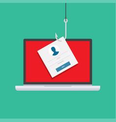 computer internet security concept vector image