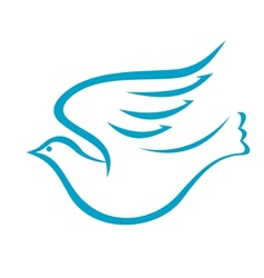 Flying dove or bird of peace vector image vector image