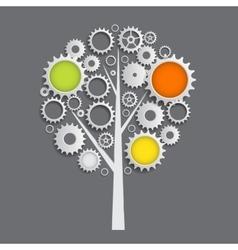 Machine Gear Wheel Cogwheel Tree Concept vector image vector image