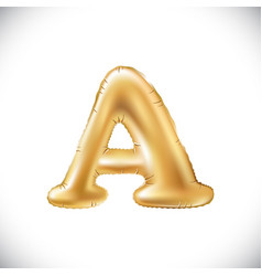 metallic gold a balloons golden letter new year vector image vector image