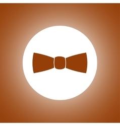 tie icon vector image
