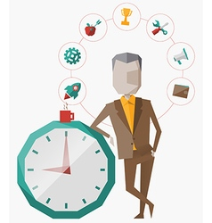 time management planning vector image