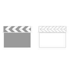 cinema clapper set icon vector image