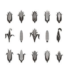 Corn icon black and white vector