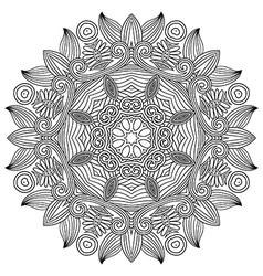 ornament ornamental round lace design vector image