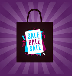 sale sticker on package silhouette vector image