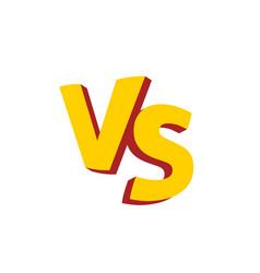 versus letters or vs logo emblem vector image