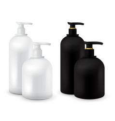 big set of jar with liquid soap for your logo and vector image vector image