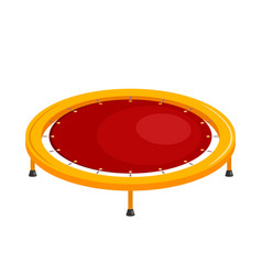 bright childrens trampoline on a white vector image