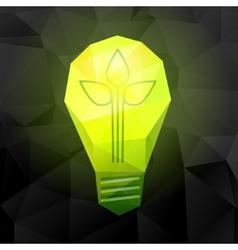 light bulb on black vector image