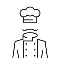 mustachioed chef vector image vector image