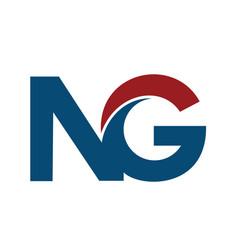 ng n g business letter logo design vector image vector image