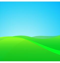 Summer Green Field vector image