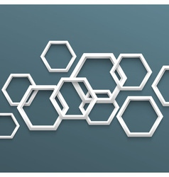 3d geometric background vector image vector image