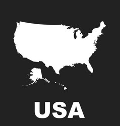 america map icon flat usa sign symbol on black vector image
