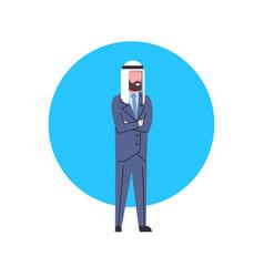 arabic business man icon full length arab vector image vector image