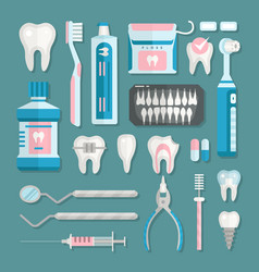 health care dentist medical tools medicine vector image vector image