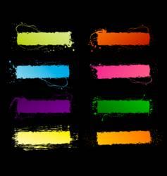spectrum grunge frames vector image vector image