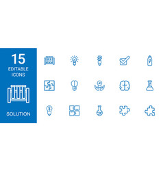 15 solution icons vector image