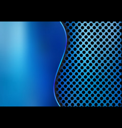 Abstract blue metallic metal background made from vector