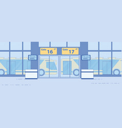airport airside bus transfer service flat vector image