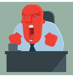 Angry boss shouting vector image