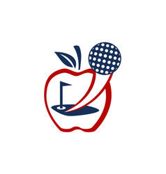 apple golf ball vector image