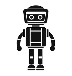 artificial robot icon simple style vector image